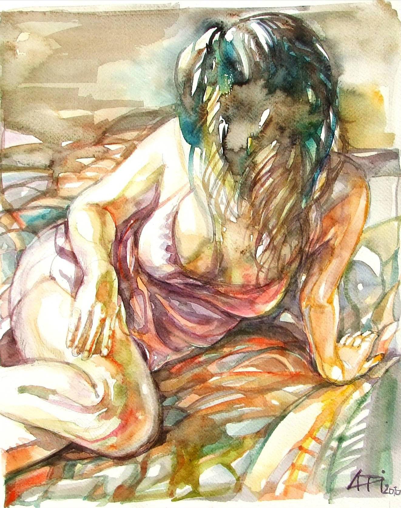 Reggeli fény - Figurális - akvarell