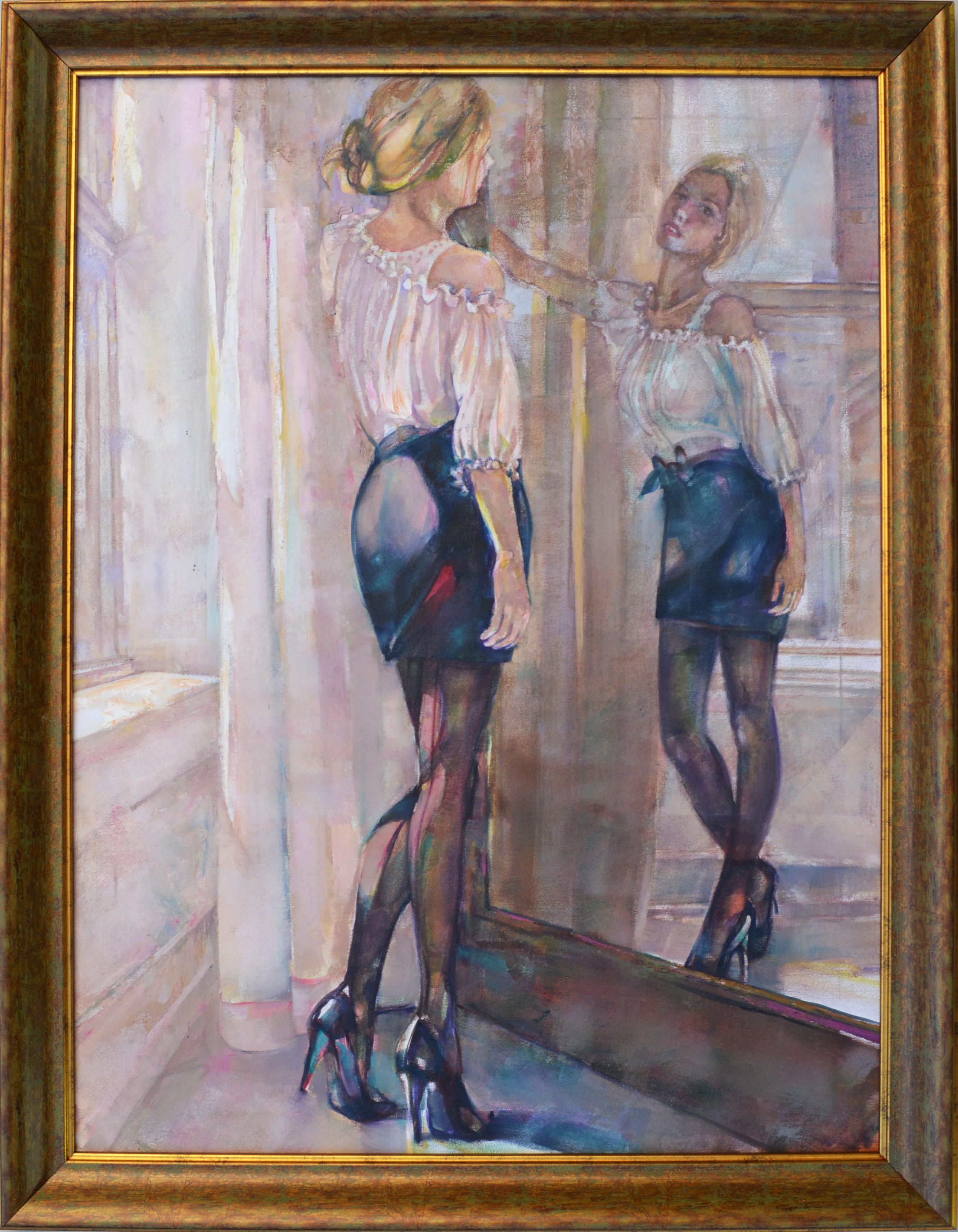 Tükörben - Figurális - olaj/vászon