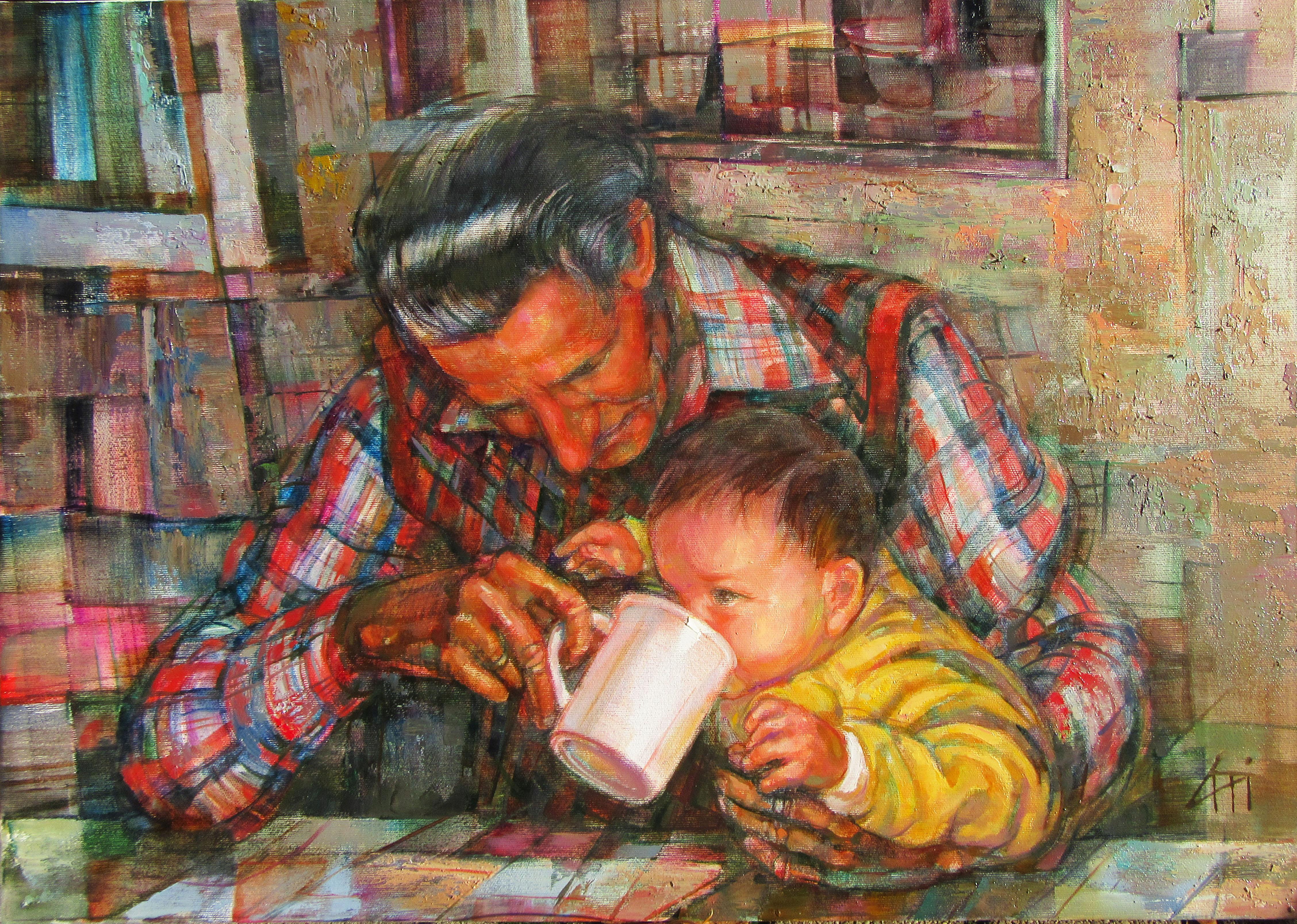 Nagypapa - Portré - olaj/vászon